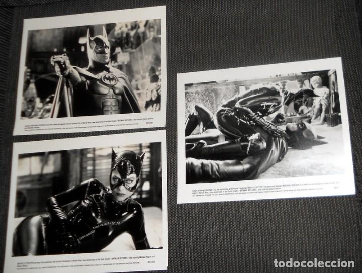 LOTE FOTO ORIGINAL PARA PRENSA CINE FILM PELÍCULA BATMAN RETURNS. MICHAEL KEATON DEVITO .1992 WARNER (Cine - Fotos, Fotocromos y Postales de Películas)