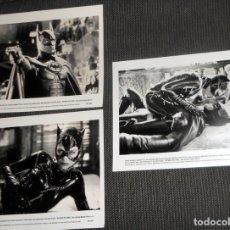 Cine: LOTE FOTO ORIGINAL PARA PRENSA CINE FILM PELÍCULA BATMAN RETURNS. MICHAEL KEATON DEVITO .1992 WARNER. Lote 182906763