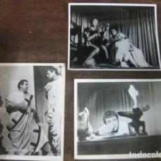 Cine: JULIO CESAR - 3 FOTOS ORIGINALES B/N - JAMES MASON JOHN GIELGUD. Lote 183188292