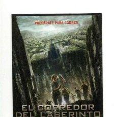 Cinema: EL CORREDOR DEL LABERINTO, DE WES BALL . MARCAPÁGINAS.. Lote 183363538