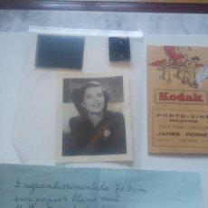 Cine: FOTOGRAFIA Y NEGATIVOS DE IRENE HERVEY. ( ACTRIZ 1909-1998.). Lote 183462980