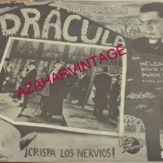 Cine: LC - DRACULA, BELA LUGOSI. Lote 183851585