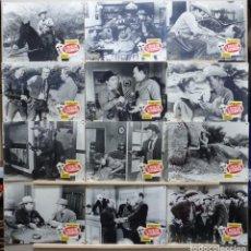 Cine: EL PISTOLERO DESCONOCIDO - WILD BILL ELLIOTT, VIRGINIA GREY - SET 12 FOTOCROMOS DE CARTON, AÑO 1964. Lote 184548913