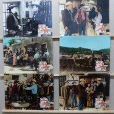 Cine: DOS PISTOLAS Y UNA INSIGNIA - WAYNE MORRIS, BEVERLY GARLAND - SET 6 FOTOCROMOS DE CARTON. Lote 184549462