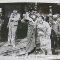 Cine: ABBOTT AND COSTELLO PARDON MY SARONG - FOTO ORIGINAL B/N - DOS CARADURAS CON SUERTE. Lote 187199591