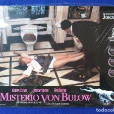 Cine: EL MISTERIO DE VON BULOW. FILM DE BARBET SCHROEDER. 3 NOMINACIONES A LOS OSCAR. 12 FOTOCROMOS NUEVOS. Lote 188494617