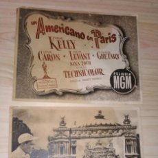 Cine: LOTE 9 FOTOCROMOS DE PAPEL UN AMERICANO EN PARÍS . Lote 190063505