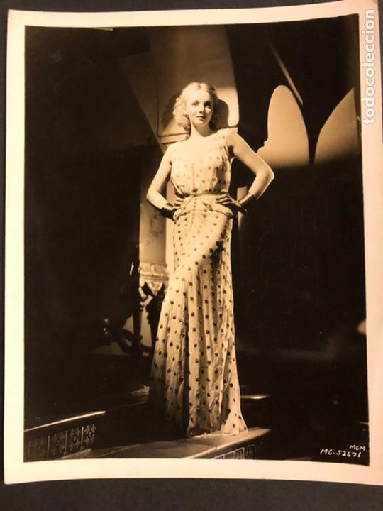 FOTO ORIGINAL MGM DE VIRGINIA BRUCE 25 X 20 CM (Cine - Fotos y Postales de Actores y Actrices)