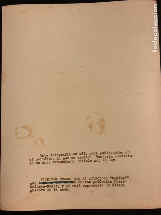 Cine: Foto original MGM de Virginia Bruce 25 x 20 cm - Foto 2 - 190136616