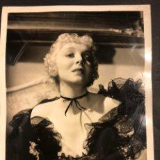 Cine: FOTO ORIGINAL MGM DE VIRGINIA BRUCE 25 X 20 CM. Lote 190182877
