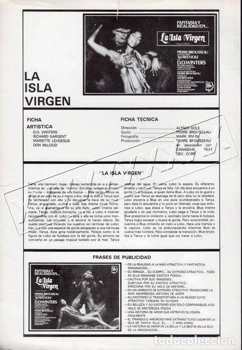 Cine: LA ISLA VIRGEN. 13 FOTOCROMOS - Foto 2 - 190381662