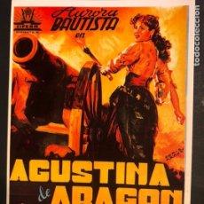 Cinema: TARJETA POSTAL AGUSTINA DE ARAGON AURORA BAUTISTA. Lote 190721340