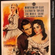 Cinema: TARJETA POSTAL EL ÁRBOL DE LA VIDA ELIZABETH TAYLOR. Lote 190721850