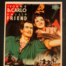 Cinema: TARJETA POSTAL EL CAPITAN PIRATA YVONNE DE CARLO. Lote 190722618