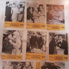 Cine: LOTE FOTOCROMOS CINE LOS HERMANOS MARX, UNA NOCHE EN CASABLANCA. ORIGINALES.. Lote 191191111