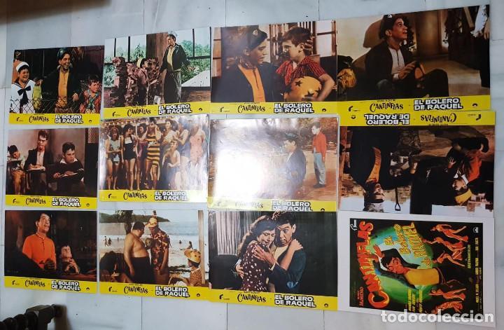 LOTE FOTOCROMOS CINE CANTINFLAS, EL BOLERO DE RAQUEL. ORIGINALES. (Cine - Fotos, Fotocromos y Postales de Películas)