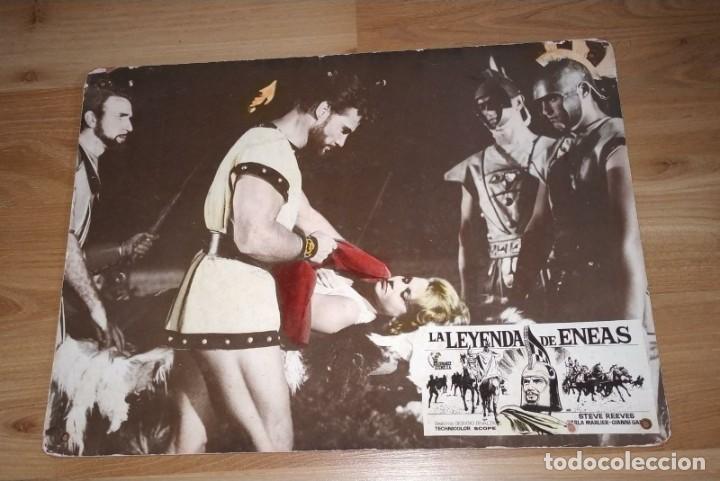 FOTOCROMO CARTÓN LA LEYENDA DE ENEAS. MEDIDAS 39 X 29 CM (Cine - Fotos, Fotocromos y Postales de Películas)