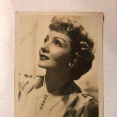 Cine: CLAUDETTE COLBERT. FOTO POSTAL. ACTRIZ FRANCESA.. (H.1950?). Lote 191316841