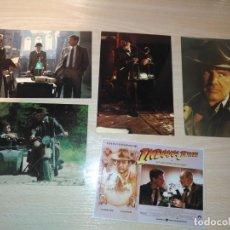 Cine: LOTE 3 POSTALES INDIANA JONES AND THE LAST CRUSADE TM ¬ 1989 MADE IN USA + 2 FOTOS DE REGALO. Lote 191404168