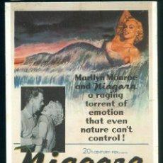 Cinéma: POSTAL MARILYN MONROE NIAGARA DE FRANCIA. Lote 191411190