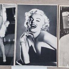 Cine: 3 FOTOS SERIE ARTISTAS DE MARILYN MONROE, 27 X 18 CMS. Lote 191594310