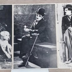 Cine: 3 FOTOS SERIE ARTISTAS DE CHARLES CHAPLIN, 27 X 18 CMS. Lote 191594437