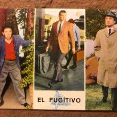 Cine: EL FUGITIVO (DAVID JANSSEN, BARRY MORSE, BILL RAISCH). POSTAL SIN CIRCULAR OSCARCOLOR N° 579.. Lote 191849452