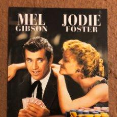 Cine: MAVERICK (MEL GIBSON Y JODIE FOSTER). POSTAL SIN CIRCULAR PROMOCIONAL DEL ESTRENO (1994).. Lote 191849472