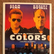 Cine: COLOURS (DENNIS HOPPER, SEAN PENN, ROBERT DUVAL). POSTAL SIN CIRCULAR PROMOCIONAL LAUREN FILMS.. Lote 191849517