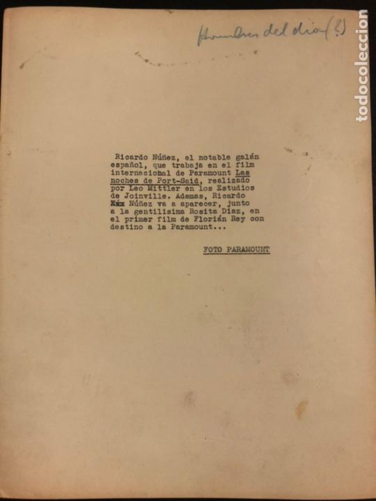 Cine: Foto original paramount del actor y director Ricardo Nuñez 25 x 20 cm - Foto 2 - 191917023