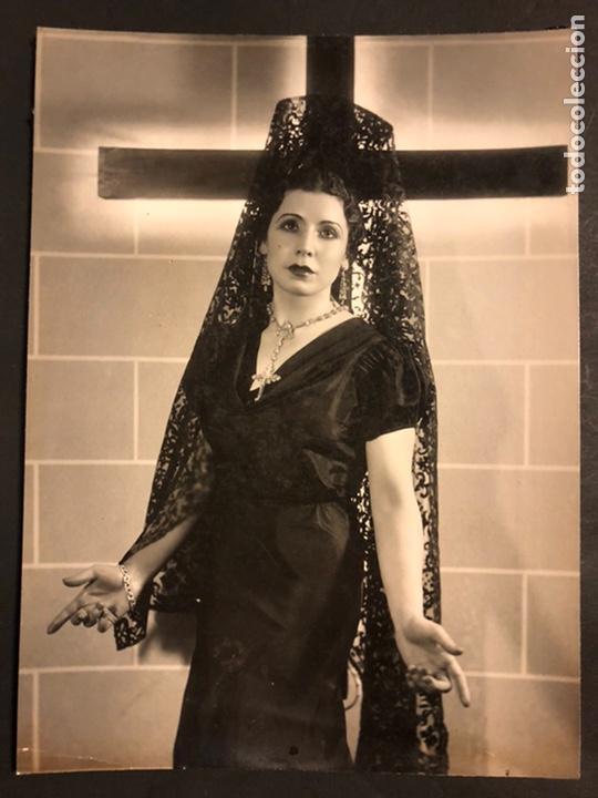 FOTO ORIGINAL DE LA ACTRIZ CUPLETISTA ELISA RUIZ ROMERO LA ROMERITO 22 X 16 CM (Cine - Fotos y Postales de Actores y Actrices)