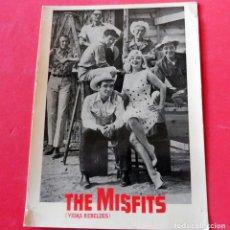 Cinema: POSTAL COL. YO AMO EL CINE - THE MISFITS. Lote 192364980