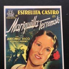 Cinema: TARJETA POSTAL MARIQUILLA TERREMOTO.ESTRELLITA CASTRO. Lote 192638676