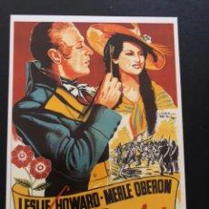Cinema: TARJETA POSTAL LA PIMPINELA ESCARLATA.LESLIE HOWARD MERLE OBERÓN. Lote 192642558