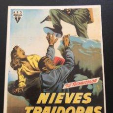 Cinema: TARJETA POSTAL NIEVES TRAIDORAS VÍCTOR MATURE. Lote 192643095
