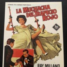 Cinema: TARJETA POSTAL LA MUCHACHA DEL TRAPECIO ROJO JOAB COLLINS. Lote 192643620