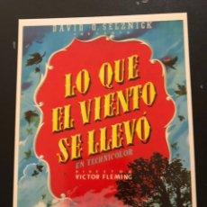 Cine: TARJETA POSTAL LO QUE EL VIENTO SE LLEVO CLARK GABLE VIVIEN LEIGH. Lote 218598593