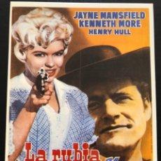 Cinema: TARJETA POSTAL LA RUBIA Y EL SHERIFF.JAYNE MANSFIELD KENNETH MORE. Lote 193585582