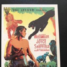 Cinema: TARJETA POSTAL TARZAN Y LA CAZADORA.JOHNNY WEISSMULLER. Lote 193609885