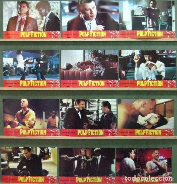 QP40 PULP FICTION TARANTINO SET COMPLETO DE 12 FOTOCROMOS ORIGINAL (Cine - Fotos, Fotocromos y Postales de Películas)