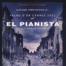 Cine: P-8601- EL PIANISTA (THE PIANIST (LE PIANISTE)) (FICHA PELICULA) . Lote 194172521