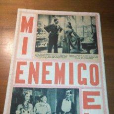 Cine: ANTIGUO COLLAGE HOJA ALBUM CASERO RECORTE AÑO 40/50 CINE ACTOR ACTRIZ CANTANTE PELICULAS. Lote 194254165