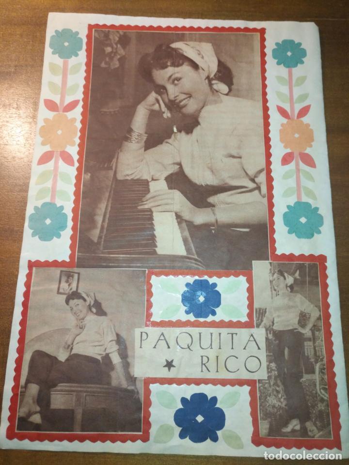 ANTIGUO COLLAGE HOJA ALBUM CASERO RECORTE AÑO 40/50 CINE ACTOR ACTRIZ CANTANTE PELICULAS (Cine - Fotos y Postales de Actores y Actrices)