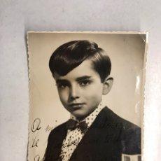 Cine: CINE, MÚSICA, FOTOGRAFÍA JOSELITO A LOS 14 AÑOS, EL PEQUEÑO RUISEÑOR. FIRMADA (A.1957). Lote 194260283