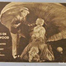 Cine: TARJETA DE CINE DE LA PELÍCULA AMORES EN HOLLYWOOD. BING CROSBY-MARION DAVIES. Lote 194272325