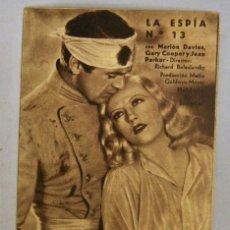 Cine: TARJETA DE CINE DE LA PELÍCULA LA ESPÍA Nº 13. Lote 194272740