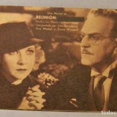 Cine: TARJETA DE CINE DE LA PELÍCULA REUNION EN VIENA (EN VIENA TACHADO). Lote 194273630