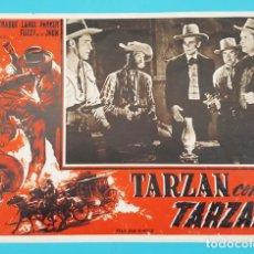 Cine: CARTEL POSTER ITALIANO TARZAN CONTRO TARZAN, BAM NEWFIELD, BUSTER CRABBE, CAROL PARER, WETERN. Lote 194302161