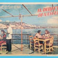 Cine: CARTEL POSTER ITALIANO IL DIRITTO DI NASCERE, JORGE MISTRAL, GLORIA MARTIN, MARTA ROTH, MUY RARO.. Lote 194303506