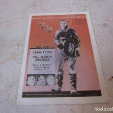 Cine: POSTAL ERROL FLYNN THE DAWN PATROL. Lote 194360065